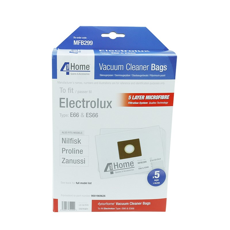Genuine ELECTROLUX ES53 Vacuum Cleaner Fibre Bags and Filter Pack 9001968420